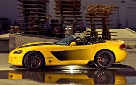Картинка желтый, Dodge, Viper