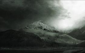 Обои природа. пейзаж, красоты. чёрно-белое, горы. виды