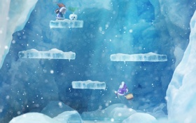 Обои ice, climber, game