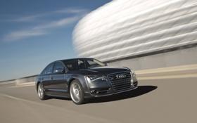 Картинка Audi, Ауди, Машина, Седан, Car, В движение