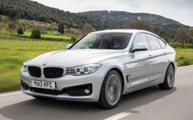 Обои дорога, авто, бмв, серебристый, BMW, Gran Turismo, Sport Line