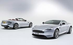 Обои Aston Martin, купе, суперкар, DB9, кабриолет, вид сзади, передок