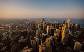 Обои высота, небоскребы, Чикаго, USA, Chicago, мегаполис, illinois