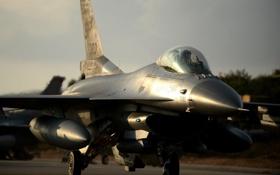 Обои истребитель, кабина, пилот, F-16, Fighting Falcon, «Файтинг Фалкон»
