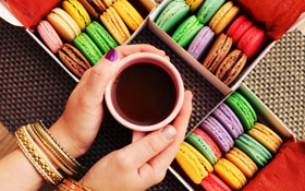 Обои colorful, печенье, десерт, cup, sweet, coffee, dessert