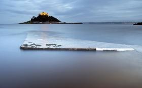 Картинка море, пейзаж, замок