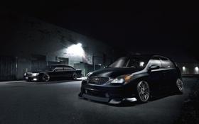 Картинка Lexus, Toyota, black, front, stance, 400