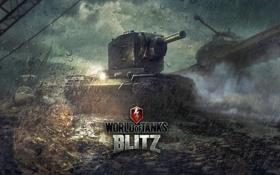 Картинка КВ-2, World of Tanks, Мир Танков, Wargaming Net, WoTB, Blitz, WoT: Blitz