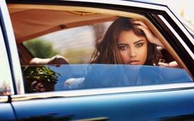 Обои машина, окно, девушка, Natanielle Camargo, взгляд
