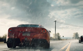 Обои брызги, ferrari, Need for Speed Rivals