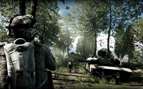 Картинка солдат, танк, Battlefield