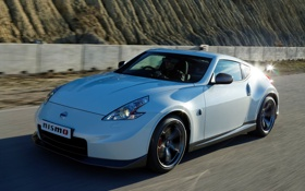 Обои машина, солнце, блики, Nissan, отсвет, 370Z, Nismo