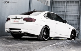Обои белый, бмв, BMW, white, E92, задняя часть, 360 three sixty forged