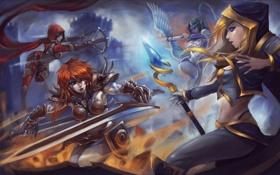 Обои Sonya, diablo, warcraft, Demon Hunter, Jaina Proudmoore, barbarian, Heroes of the Storm