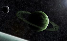 Обои звнзды, планета, кольца