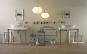 Обои дизайн, интерьер, раковина, design, ванная комната, washbasin