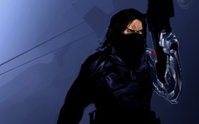 Картинка Marvel Comics, Captain America: The Winter Soldier, Bucky Barnes, winter soldier