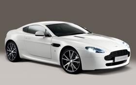 Обои Vontage, белый, Aston Martin