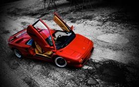 Обои Lamborghini, red, DIABLO