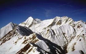 Картинка небо, тень, горы, снег, Альпы, Швейцария, вершины
