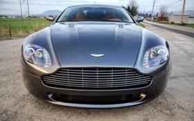 Картинка серый, Aston Martin, ограждение, grey, передок, Астон Мартин, грунтовка