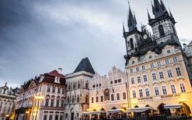 Обои город, здания, Прага, Чехия, башни, Prague, Czech