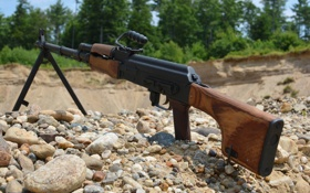 Обои РПК, Ручной пулемёт, камушки, Калашникова, оружие