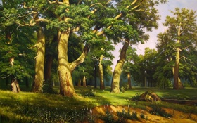 Обои лес, forest big, живопись, картина, painting
