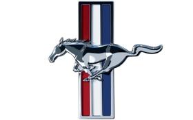 Картинка mustang, мустанг, лого, белый фон, logo