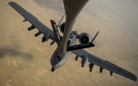 Картинка полет, штурмовик, A-10, дозаправка, Thunderbolt II
