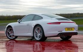 Обои Carrera 4, Porsche, 911, car, auto, white, Coupe