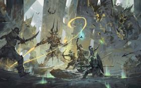 Картинка арт, сражение, воины, KJK-art, Against All Odds
