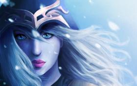 Обои девушка, art, голубые глаза, арт, Ashe, league of Legends, игра