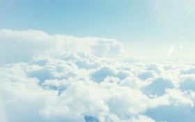 Обои белые, небо, облака