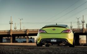 Обои stance, genesis, генезис, green, купе, coupe, tuning