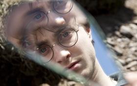Картинка осколок, отражение, Гарри Поттер, Дэниел Рэдклифф, зеркало