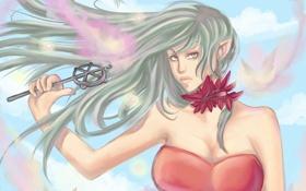 Обои ветер, волосы, палочка, феи, деаугка