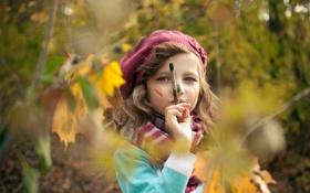 Обои осень, настроение, краски, девочка