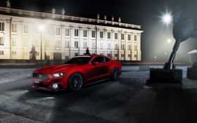 Обои Mustang, Ford, Muscle, Red, Car, 5.0, 2015