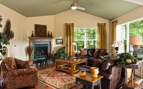 Обои дизайн, дом, стиль, комната, вилла, интерьер, гостиная