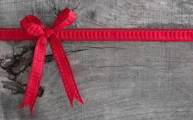 Обои bow, wood, red cloth, pattern