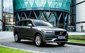 Обои Volvo, XC90, вольво, UK-spec, 2015, Momentum