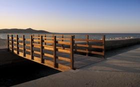 Картинка море, мост, причал