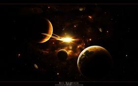 Обои спутники, космос, планеты, вселенная