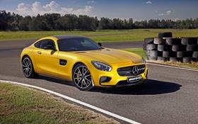 Картинка Mercedes, мерседес, AMG, амг, AU-spec, 2015, GT S