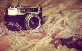 Обои камера, фотоаппарат, винтаж