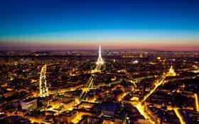 Картинка Франция, Париж, Эйфелева башня, Paris, France, Urban Ocean