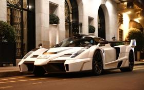 Обои белый, Ferrari, white, феррари, Gemballa, Enzo, tuning