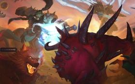 Обои starcraft, warcraft, Nova, arthas, azmodan, Thrall, Tyrael