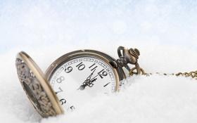 Картинка новый год, рождество, winter, snow, time, clock